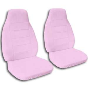 Pair of Sweet Pink front seat covers. Universal fit, matching steering