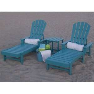 Beach Pool Recycled Plastic Patio Lounge Set Patio, Lawn & Garden