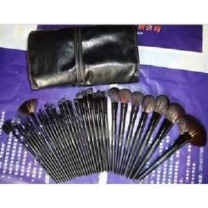 32 pieces professional brush set + leatyer pouch Beauty