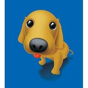 A Golden Retriever Puppy Dog   Peel and Stick Wall Decal