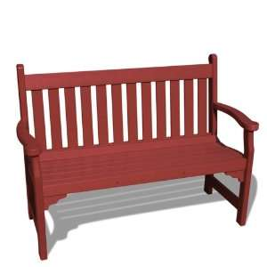 VIFAH V1227 B Outdoor Recycled Plastic Bench, Burgundy