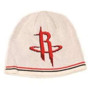 Houston Rockets White Digital Logo Knit Beanie (Uncuffed)