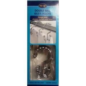 Double Roller Hooks Set of 12 Shower Hooks: Home & Kitchen