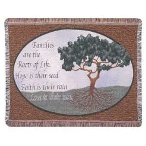 TAPESTRY THROW SIMPLY HOME FAMILY ROOTS