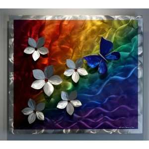 Rainbow Art Abstract Metal Wall Art Decor, Design by Wilmos Kovacs