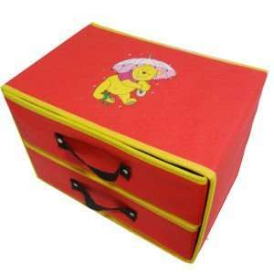 Disney Winnie Pooh Clothing Stuff Box Storage Case Orgnizer Middle