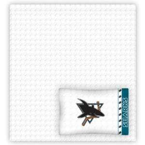 SAN JOSE SHARKS OFFICIAL TEAM LOGO FULL SIZE JERSEY SHEET