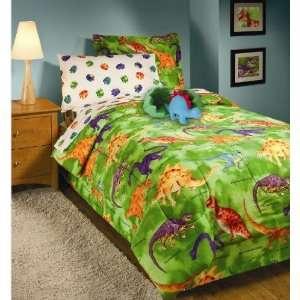 Crayola Boys Dinosaur Comforter Sheet Bed In A Bag Set, Twin Size