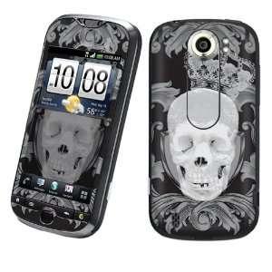Slide Vinyl Protection Decal Skin Black Skull Crown Cell Phones