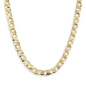 New 14k Solid Yellow Gold Curb Link Chain Necklace 7mm