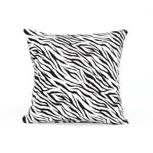 16 X 16 Black & White Zebra Throw Pillow Cover