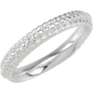 Genuine IceCarats Designer Jewelry Gift Sterling Silver Wedding Band