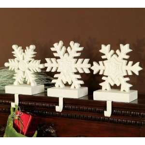 Snowflake Stocking Hanger, Set of 3