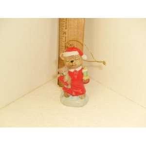 1997 ORNAMENT TEDDY BEAR IN CHRISTMAS STOCKING