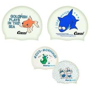 Cressi Jr. Silicone Swim Cap   Gold Fish