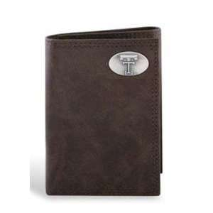 Texas Tech Leather Wrinkle Brown Long Roper Wallet Sports