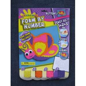 Butterfly Foam by Number Craft Kit Toys & Games