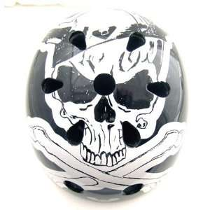 Viking Skull Graphic Skateboard Or BMX Bike Helmet One
