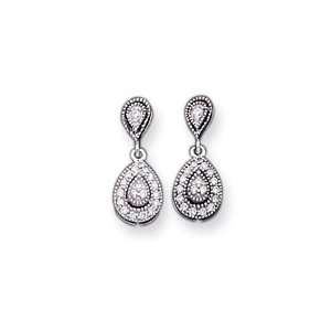 14k White Gold Diamond Vintage Earrings   JewelryWeb Jewelry