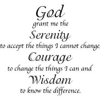 Serenity Prayer Quote Vinyl Wall Decal Sticker Art Words