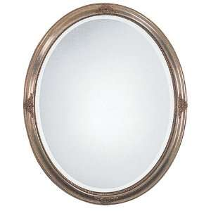 Oralee Oval Gold Leaf Wall Mirror