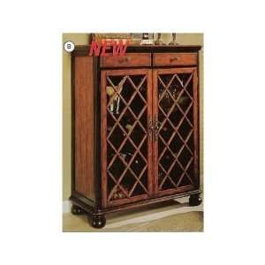 Two tone finish wood wine storage cabinet console: Home & Kitchen