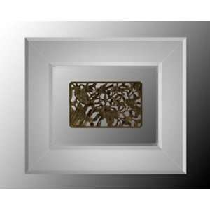 Hand Carved Wood Artifact In Mirror Shadowbox II