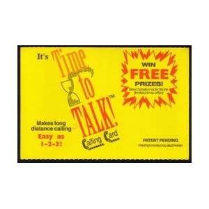 Collectible Phone Card Its Time To Talk. 3m Sample (1992 Paper