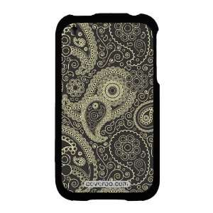Paisley Black and Tan Design on AT&T iPhone 3G/3GS Case by