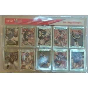 1990 ACTION PACKED PACKED SAN DIEGO CHARGERS TEAM SET