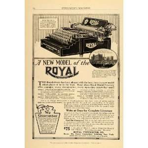 1911 Vintage Ad Royal Typewriter Model 5 Factory Plant   Original