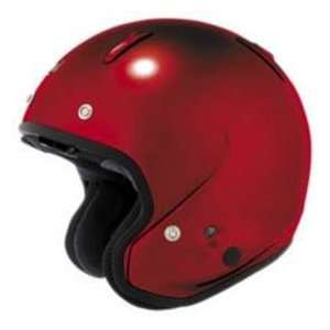 CLASSIC_C CALIENTE RED 08 LG MOTORCYCLE Open Face Helmet Automotive