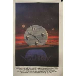 Anthrax   Persistence of Time   Limited Edition Serigraph Poster 20 x