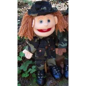 14 Army Girl Glove Puppet : Toys & Games :