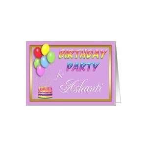 Ashanti Birthday Party Invitation Card Toys & Games