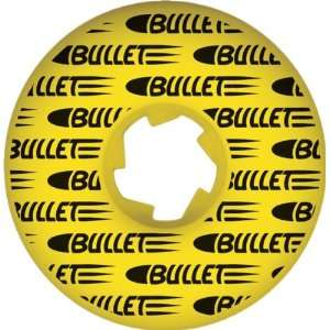 Bullet Split Shot 52mm Yellow Ppp Skate Wheels: Sports