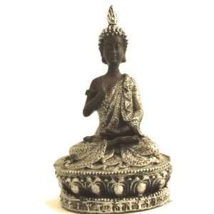 Buddha Statue 02 Black Silver Figurine Buddhist God