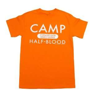 The Lightning Thief Camp Half blood Orange T shirt