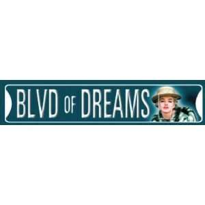 Marilyn Monroe, Blvd of Dreams Street Sign Automotive