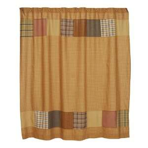Curtain in Rustic Country Patchwork Star Pattern