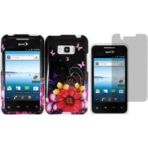 Delusional Flower Design Hard Case Cover+LCD Screen Protector for LG