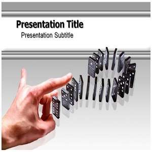 Dominoes effect PowerPoint Template   Dominoes effect PowerPoint (PPT