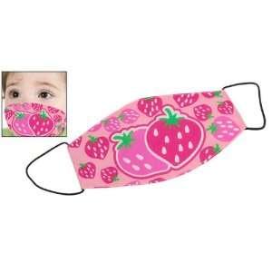 Strawberry Print Pink Anti dust Cotton Kids Mouth Mask