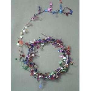 Party Deco 04500 12 ft. Multi in.Happy Anniversary in. Wire Garland