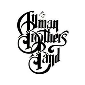 ALLMAN BROTHERS BAND WHITE LOGO DECAL STICKER: Everything