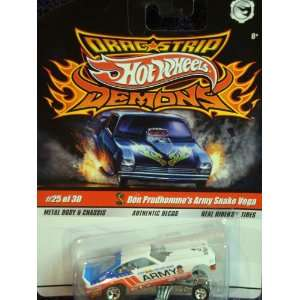 Hot Wheels Dragstrip Demons Don Prudhommes Authentic Decos Army Snake