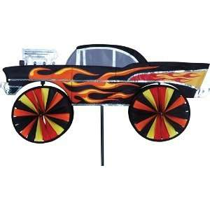 Vehicle Wind Spinner   Hot Rod (28in): Patio, Lawn
