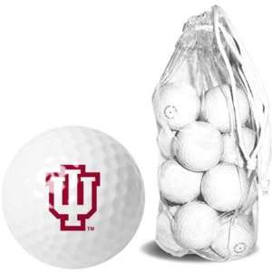 Indiana Hoosiers IU NCAA Clear Pack 15 Golf Balls Sports
