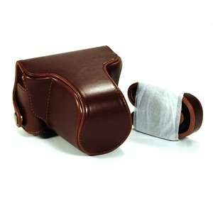 COSMOS ® Brown Leather Case Cover Bag For Pentax Q 02