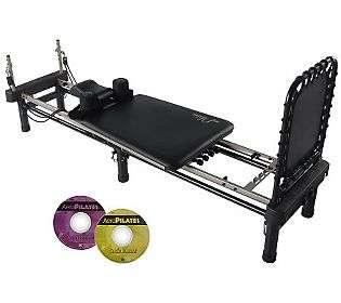 Aero Pilates Premier Studio w/Stand, Rebounder,Pillow & DVDs   QVC